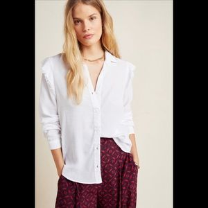 Cloth & Stone Ruffled Button Down